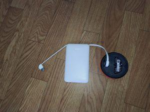 モバイルバッテリー6800mAh ケーブル内蔵