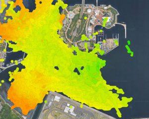横浜海の公園&野島公園等深線マップ