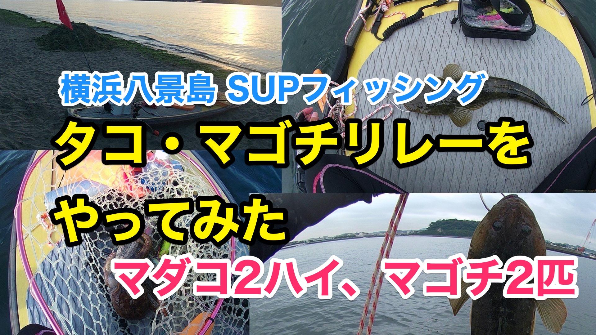 【タコ・マゴチリレーをやってみた】SUPフィッシング@横浜八景島20210908